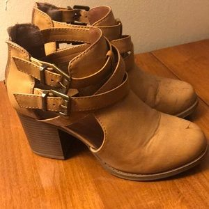Cutout ankle booties